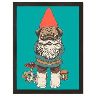 Pug Gnome 18x24-inch Art Print
