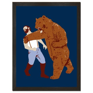 The Bear Strikes Back 18x24-inch Art Print