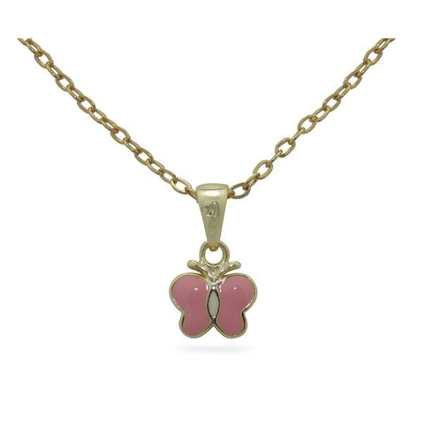 Junior Jewels Enamel Butterfly Pendant 14249177