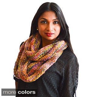 Warm Knit Fall/ Winter Multicolored Infinity Scarf