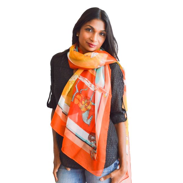 Multicolored Derby Show Horse Scarf