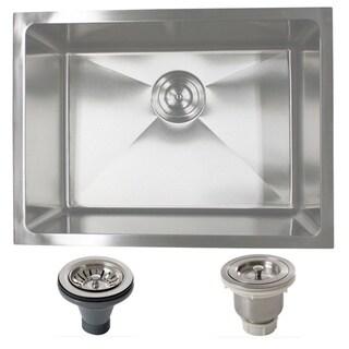 Phoenix PLZ10BG-BASK-DEL 23-inch Stainleess Steel Undermount Single Bowl Kitchen Sink