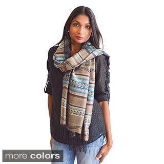 India Silver Threaded Scarf/ Wrap/ Shawl