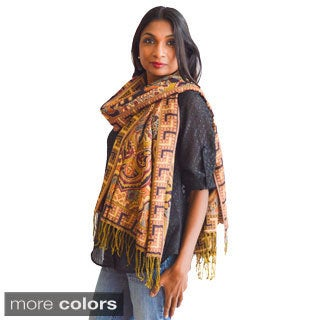 India Tapestry Pashmina Scarf/ Wrap/ Shawl