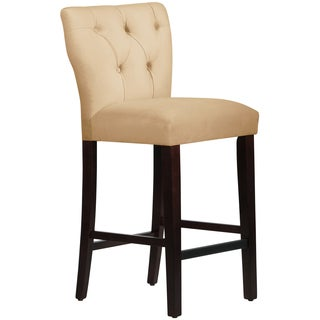 Made to Order Tufted Hourglass Cream Bar Stool
