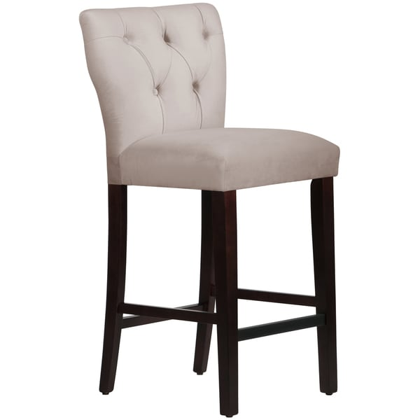 Made to Order Tufted Grey Hourglass Bar Stool