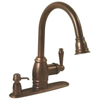 Premier Sonoma Single-handle Lead-free Oil Rubbed Bronze Pull-down Kitchen Faucet with Matching Soap Dispenser