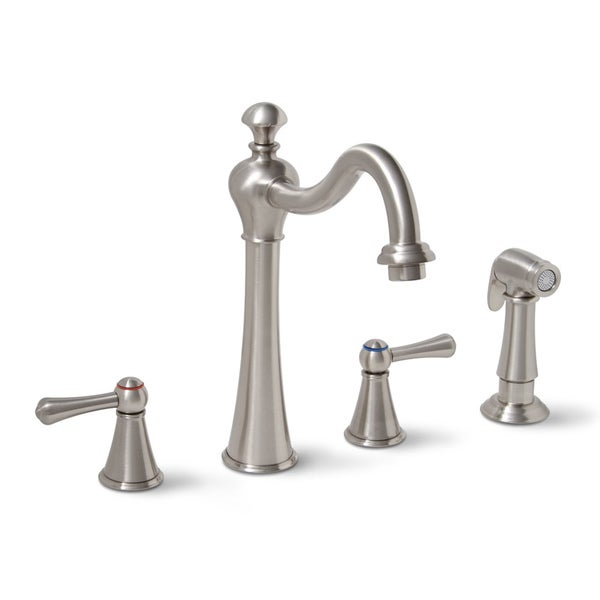 Premier Sonoma Two-handle Brushed Nickel Kitchen Faucet with Matching Side Spray