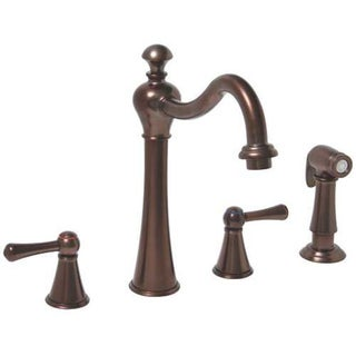 Premier Sonoma Two-handle Oil Rubbed Bronze Kitchen Faucet with Matching Side Spray