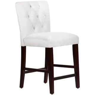 Made to Order Tufted Mor White Counter Stool