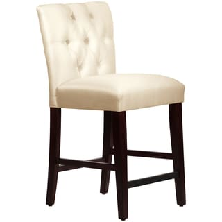 Made to Order Tufted Mor Off-white Counter Stool