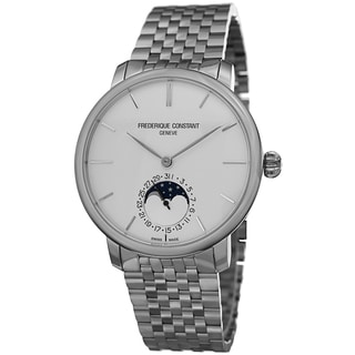 Frederique Constant Men's FC-705S4S6B 'Slim Line' Silver Dial Stainless Steel Automatic Watch