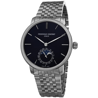 Frederique Constant Men's FC-705N4S6B 'Slim Line' Blue Dial Stainless Steel Automatic Watch