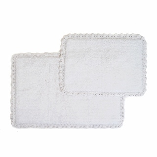 Crochet Edge 2-piece Bath Rug Set