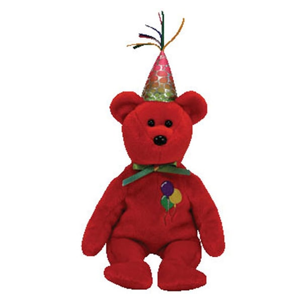 Ty Beanie Babies Happy Birthday Red Bear