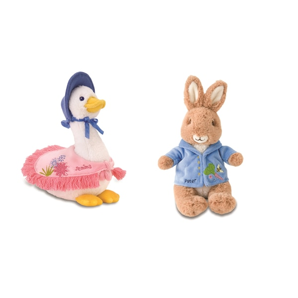 Peter Rabbit, Jemima Duck and Jeremy Fisher Plush Set