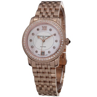 Frederique Constant Women's FC-303WHF2PD4B3 'Ladies Automatic' Rose Goldtone Watch