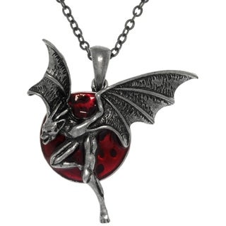 CGC Pewter Moon with Creature of The Night Pendant Necklace