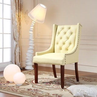 Royal Comfort Martis Cream Faux Leather Luxury Arm Chair
