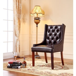 Royal Comfort Martis Brown Faux Leather Luxury Arm Chair