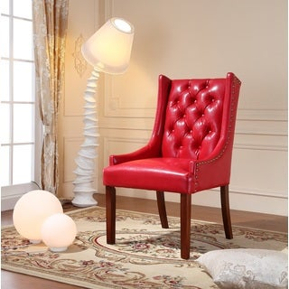 Royal Comfort Martis Red Faux Leather Luxury Arm Chair