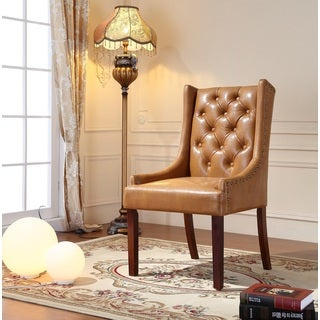 Royal Comfort Martis Light Brown Faux Leather Luxury Arm Chair