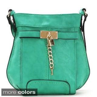 Chasse Wells Deverrouiller Votre Reve Faux Leather Cross-body Handbag