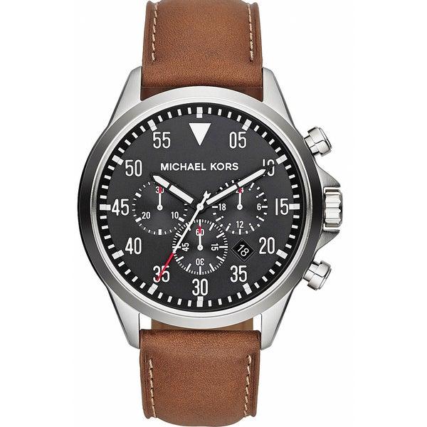 Michael Kors Men's MK8333 'Gage' Luggage Leather Chronograph Watch