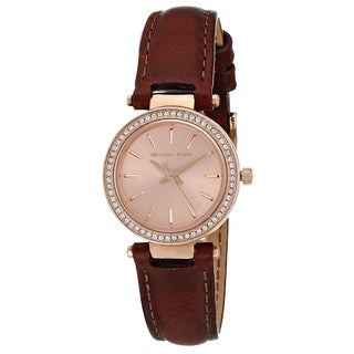 Michael Kors Women's MK2353 Petite Darci Brown Leather Watch