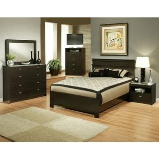 Sandberg Furniture Times Square Espresso Panel Bed