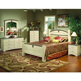 Sandberg Furniture La Jolla Whitewash Estate Bed
