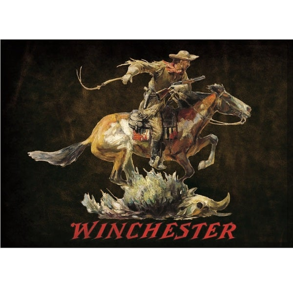 Winchester Dark Horse and Rider Area Rug (4'4 x 3'1)