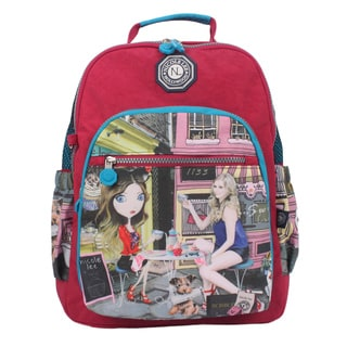 Nicole Lee Cupcake Girl Print 15-inch Water-resistant Crinkle Nylon Backpack