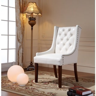 Royal Comfort Martis White Faux Leather Luxury Arm Chair