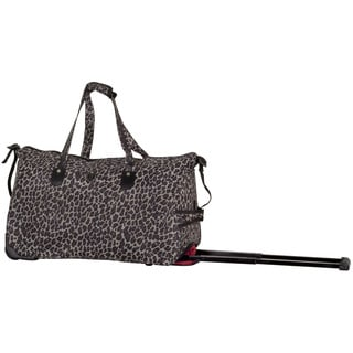 CalPak 'Madison' Brown Cheetah 21-inch Carry On Rolling Upright Duffel Bag
