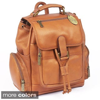 Claire Chase Small Leather Uptown Backpack