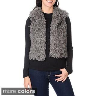 Amanda Charles Women's Faux Mongolian Wool Vest
