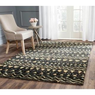 Safavieh Hand-knotted Bohemian Black/ Gold Jute Rug (5' x 8')