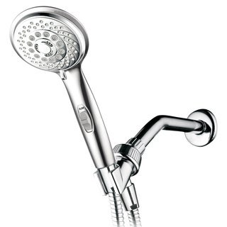 HotelSpa 7 Settings Hand Shower with Pause Switch, Extra Long Hose, Angle Adjustable Bracket and Bon