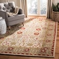 Safavieh Handmade Anatolia Ivory/ Light Green Wool Rug (8' x 10')