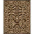 Safavieh Handmade Anatolia Dark Brown/ Gold Wool Rug (8' x 10')