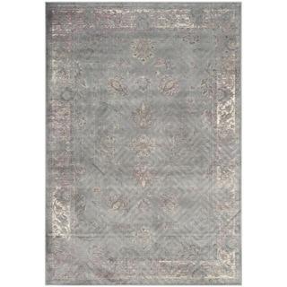 Safavieh Vintage Grey/ Multi Viscose Rug (6'7 x 9'2)