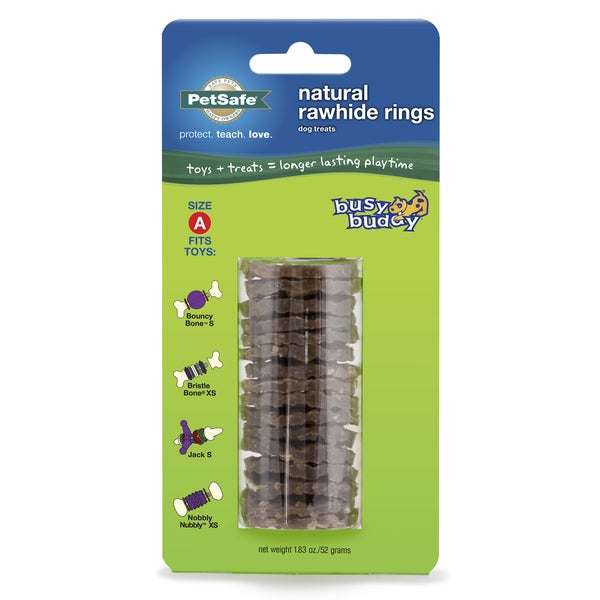 PetSafe Busy Buddy Natural Rawhide Ring Dog Treats (Size A)