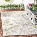 Safavieh Indoor/ Outdoor Amherst Ivory/ Light Grey Rug (4' x 6')