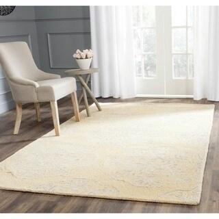 Safavieh Handmade Bella Beige/ Silver Wool Rug (6' Square)