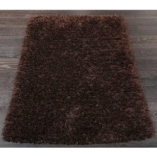 Elegant Shag Brown Solid Area Rug (2'3 x 3'8)