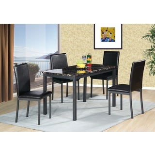 Helena 5-piece Faux Marble Dining Set