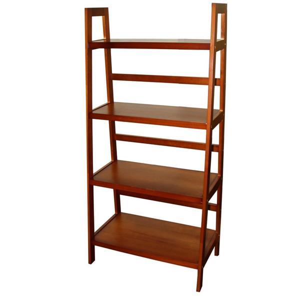 4-tier Wooden Ladder Shelf