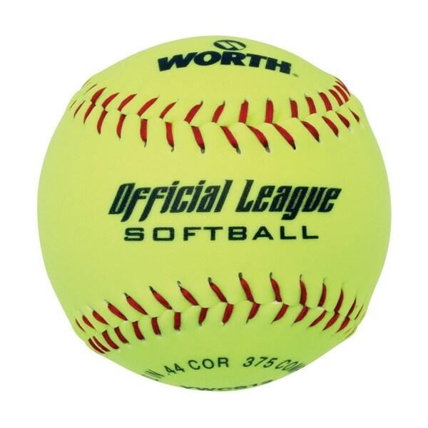 11 inch Yellow Softballs 4 Pak
