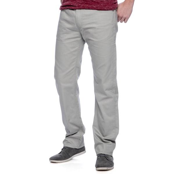 Levis Men's Grey Regular Fit Saturated Slub Twill Pants